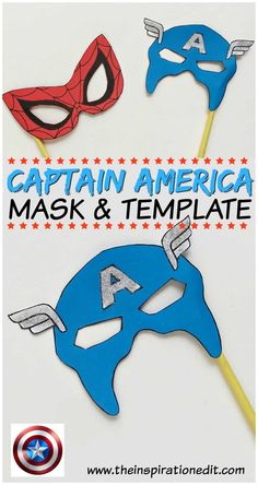 Captain America Mask · The Inspiration Edit Fathers Day Crafts, Easy Crafts For Kids, Craft Activities For Kids, Projects For Kids, Toddler Crafts, Hulk Party, Superhero Theme Party, Superhero Kids, Captain America Mask