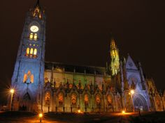 Discover one of the largest neogothic churches in the New World. (Basílica in Quito Ecuador)