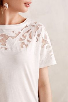 Calabas Lace Tee - anthropologie.com #anthrofave
