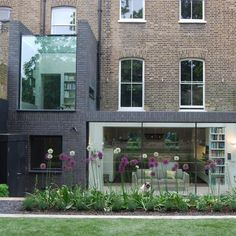 This north London house extension by Lipton Plant Architects features a walk-on glass roof that can be accessed by climbing through a window Brick Extension, Glass Extension, Extension Google, Extension Ideas, Architecture Details, Modern Architecture, Brick Colors, London House, Glass Roof
