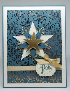 Christmas Star, Christmas Signs, Christmas Angels, Handmade Christmas, Christmas Crafts, Winter Cards, Holiday Cards, Star Cards, Card Patterns