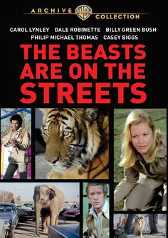 Do you love movies with animals? Chances are you haven't seen the 70s TV movie The Beasts are on the Streets in which animals escape from the zoo and attack everyone nearby. Click on the movie poster to read more about the 70s TV movie The Beasts are on the Streets.