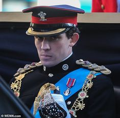 Breaking character: Josh beamed in between scenes as he dropped his serious expression when the camera stopped rolling Netflix Programmes, The Crown Season 3, Queen Eleanor, Investiture Ceremony, Young Actors, Les Miserables, Prince Charles, British Royals, Beautiful People