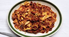 Classic Ragù Bolognese - Bon Appétit (sub pasta) Pasta Recipes, Beef Recipes, Cooking Recipes, Dinner Recipes, Noodle Recipes, Italian Dishes, Italian Recipes, Classic Bolognese Recipe, Ragu Bolognese