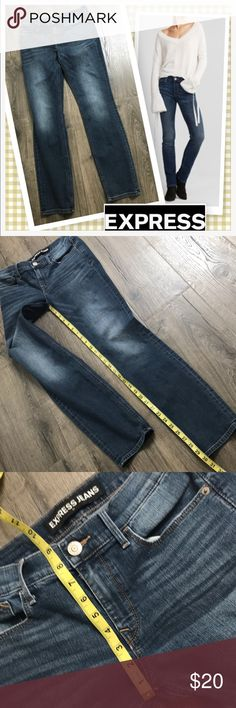 """Express Mid Rise Skinny Jeans 6X30 Pre loved stylish jeans with great Stretch feels like some of my jeggings.  Inseam 30"""" Long   Shop with confidence I'm a Posh Ambassador🤗 Ships out next Business day (no weekends)💜 Express Jeans Skinny"""