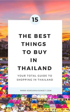 From clothes to coconuts, discover the 15 best things to buy in Thailand – plus Thailand shopping tips and where to shop from Bangkok to the beach. Thailand Vacation, Thailand Travel Guide, Bangkok Travel, Phuket Thailand, Asia Travel, Backpacking Thailand, Food Thailand, Vacation Food, Thailand Honeymoon