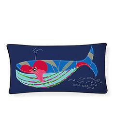 Look what I found on #zulily! Blue Whale Pillow #zulilyfinds