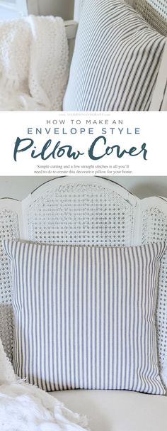 One of the easiest sewing projects you can try is making a pillow.   This tutorial teaches how to make an envelope pillow cover which requires…