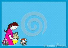 Girl child education background and frame