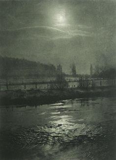 Moonlight Night 1898 by hugo Bucner.