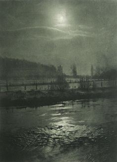 Moonlit Night, 1898 by Hugo Büchner. Thank you, firsttimeuser.