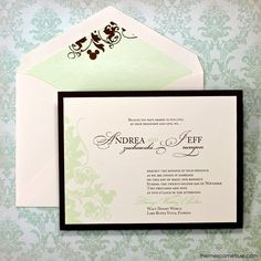 Disney wedding invitations CAN be elegant, too! :) | Hidden Mickey ...