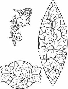 Cutwork Embroidery, Vintage Embroidery, Embroidery Patterns, Leather Working Patterns, Whole Cloth Quilts, Outline Designs, Doodle Art Drawing, Punch Needle Patterns, Stamp Carving