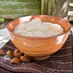 A Medieval recipe circa 1420 for something like an almond rice pudding. #justjoustit