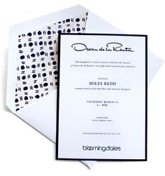 an invite for the oscar home collection launch with miles redd