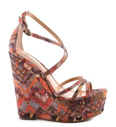 Schutz 'ERNIA' Wedge Sandal Resort 2015 #Shoes #Wedges
