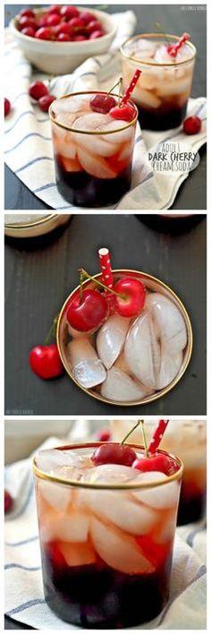 Dark Cherry Cream Soda for grownups! Aka with vodka.