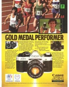 Canon AE-1 Advertisement during the Olympics.