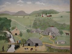 The Old Oaken Bucket, Anna Mary Robertson Moses (Grandma Moses) Grandma Moses, Nature Artists, Artwork Images, Art Pictures, Naive Art, Illustrations, Sculpture, Farm Life, American Artists