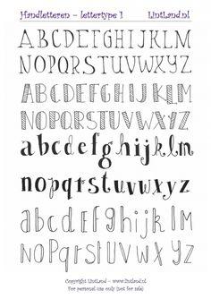 GRATIS DOWNLOADEN; Handletteren lettertype 1