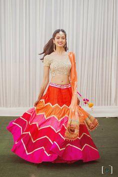 "Photo from Dhanika Choksi Photography ""Wedding photography"" album Bridal Lehenga, Saree Wedding, Function Dresses, Bollywood Lehenga, Saree Gown, Wedding Function, Indian Wedding Photography, Orange Wedding, Wedding Preparation"