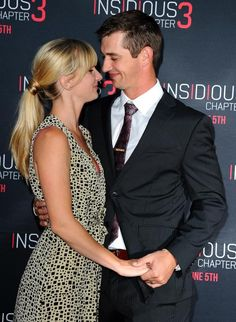 Heather Morris and Taylor Hubbell attend the premiere of 'Insidious: Chapter 3'