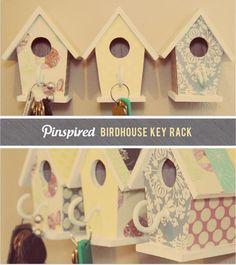 Birdhouse key rack from Heart Home