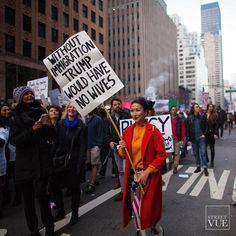 #freemelania #womensmarch  Follow us @streetvues | streetvue.co  #resist #democracy #womensrights #notmypresident #newyork #streetstyle #streetphotography
