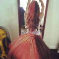my old split pink hair ... I miss you.