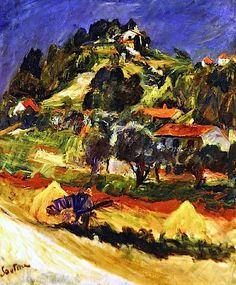 Landscape in Ceret, 1932 (oil on canvas), Soutine, Chaim