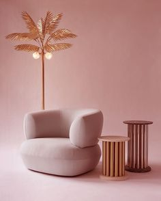 PINK CHAIR| moder furntiure decor ins soft pink and brass shades… @coveteur