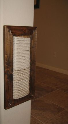Wall Mount Scratching Post for Cats. $119.00, via Etsy.