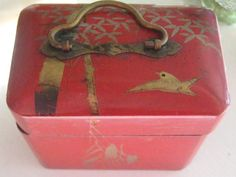 Adorable Antique Japanese Perfume Bottle Holder