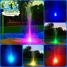 We have added a new dimension to our splash pad nozzles. These LED color change lights throw off great light either for the kids to play in at night or just to add for a spray fountain for your backyard. Backyard Dog Area, Dog Friendly Backyard, Backyard Gates, Fire Pit Backyard, Backyard Ideas, Outdoor Screen Room, Outdoor Screens, Outdoor Gazebos, Outdoor Fun