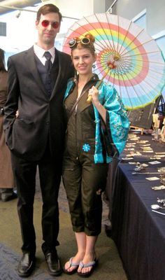 Kaylee Frye and Simon Tam from Firefly cosplay at Steamposium 2014