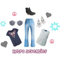 Retro 70s by simplybe on Polyvore featuring Lipsy