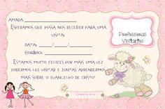 As Tontas Vão Ao Céu: Cartão - Lembrete de Visita das Professoras Visita...
