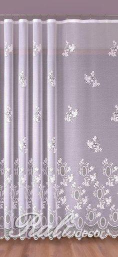 Meryl, bílá záclona výška 120 cm metráž - RALI Decor, s.r.o. - bytový textil, záclony a povlečení