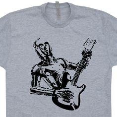 Star Wars C3PO Guitar T Shirts Electric Taylor Gibson Banksy Shirts