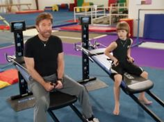 Chuck Norris Workout with Kids #totalgym #chucknorrisworkout #chuckandsonworkout