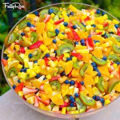 GIANT #FULLYRAW FRUIT SALAD! www.fullyraw.com