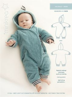 Babymode - Schnittmuster ❤ Baby Winter Overall Anzug Minikrea - ein Designerst. Baby Winter Overall, Baby Winter Suit, Baby Overall, Dress Winter, Designer Baby, Baby Jumpsuit, Baby Dress, Fashion Kids, Fashion Sewing