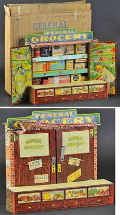 198 Np590 Gorgeous Dollhouse Toy Grocery Store Vintage
