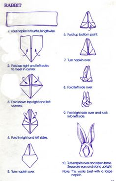 candle napkin fold instructions