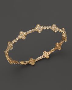 Diamond Clover Bracelet in 14K Yellow Gold, .50 ct. t.w. | Bloomingdale's