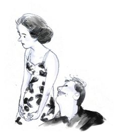 Watched 'La Notte' 1961, Michelangelo Antonioni last weekend. Now that's a beautifully shot movie. (pencil on paper)