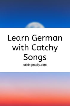 Learn German with Catchy Songs Learn German Language, French Language Learning, Foreign Language, Spanish Language, Basic German, Study German, German Grammar, German Words, Reflexive Verben