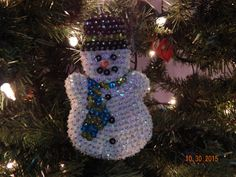 SALE:  Snowman Fun Sequin Ornaments by Sunrise Craft and Hobby by NanaJansXmasCrafts on Etsy