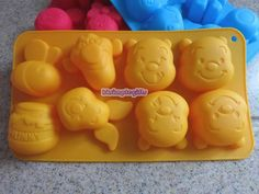 Disney Winnie the Pooh Piglet Tigger Silicon Ice Tray Chocolate Mini Cake Mold