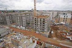 Der neue Bau-Report: So wohnt Dresden. In Striesen zieht USD momentan dieses riesige Wohnquartier an der Mansfelder Straße hoch. Foto: Thomas Türpe